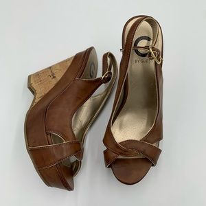 GUESS wedge open toed sandal